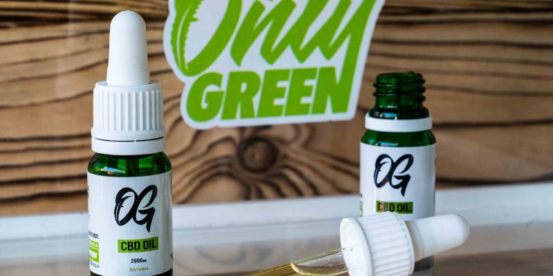 Only Green CBD Oil Bottles With Pipette