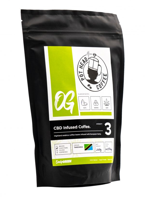 Only Green Pot Head CBD Infused Coffee