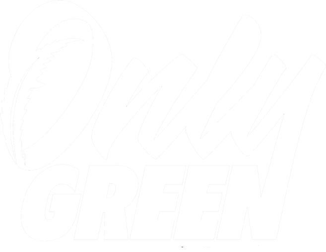 White only green logo